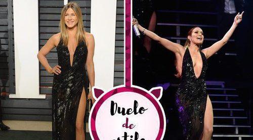 Jennifer Aniston y Jennifer Lopez enfrentadas por un Versace. ¿A quién le sienta mejor?