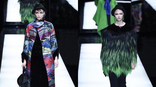 Giorgio Armani tiñe su otoño/invierno 2017/2018 de colores intensos en la Milán Fashion Week