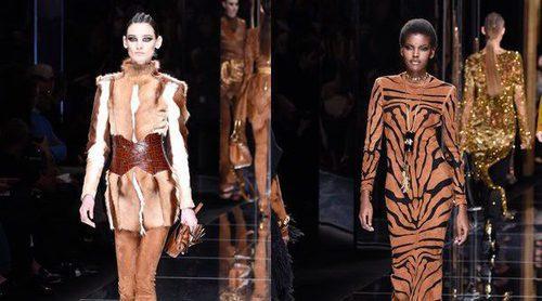 La naturaleza y los animales salvajes llegan a la Paris Fashion Week con el desfile de Balmain