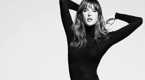 Alessandra Ambrosio envuelta en blanco y negro en la nueva colección de Re/Done