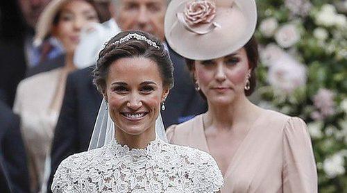 Las similitudes de los vestidos de novia de Kate Middleton y Pippa Middleton