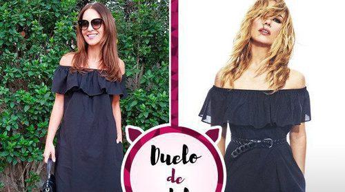 Paula Echevarría apuesta por un vestido de Patricia Conde. ¿A quién le sienta mejor?
