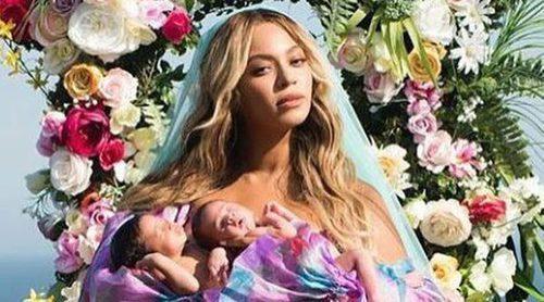 Beyoncé presenta a sus bebés vestida con moda española