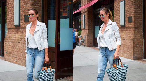 El look casual e informal de Heidi Klum convertido en low cost: ¡Aprende a imitarlo!