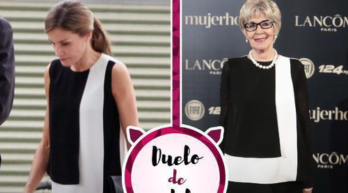 La Reina Letizia y Concha Velasco apuestan por la misma camisa de Carolina Herrera
