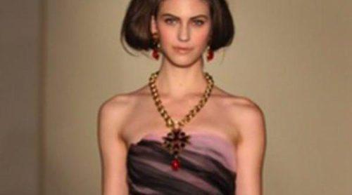 Oscar de la Renta apuesta por vestidos de corte lady y vaporosos para la temporada otoño/invierno 2013