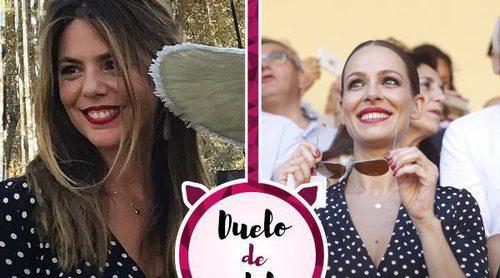 Manuela Velasco y Eva González se decantan por el mismo vestido de lunares de Dolores Promesas
