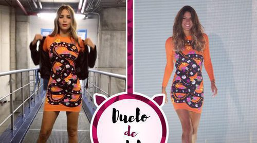 Rosanna Zanetti y Laura Matamoros escogen el mismo vestido 'cobra' de María Escoté