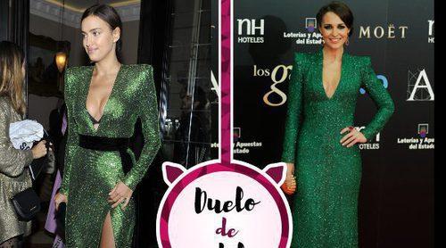 Irina Shayk y Paula Echevarría, unidas por un look muy parecido de diseñadores diferentes