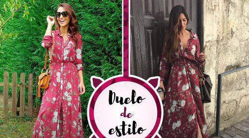 Paula Echevarría y Sara Carbonero apuestan por el mismo vestido de estilo camisero