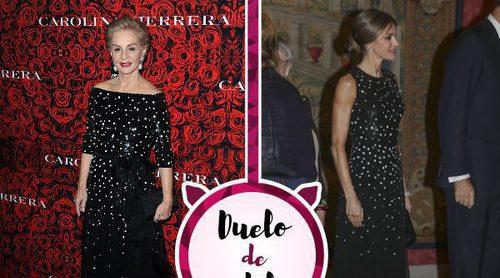 Carolina Herrera y la Reina Letizia apuestan por un vestido muy similar. ¿Quién lo lució mejor?