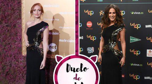 Cristina Castaño y Malú se rinden ante Elisabetta Franchi y su sensual vestido
