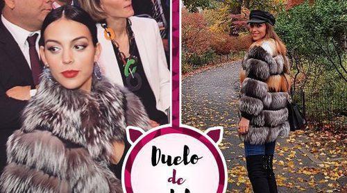 Georgina Rodríguez y Paula Echevarría tienen el mismo abrigo: ¿A quién le queda mejor?