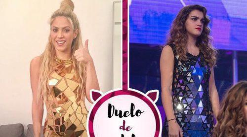 Duelo de cantantes: Shakira, Amaia y un mismo vestido de Gustavo Adolfo Tarí