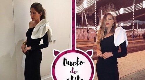 Lourdes Montes y Jessica Bueno: Un mismo vestido bicolor para dos excuñadas