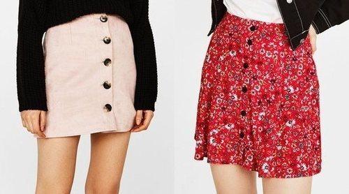 Falda con botones: guía de estilo