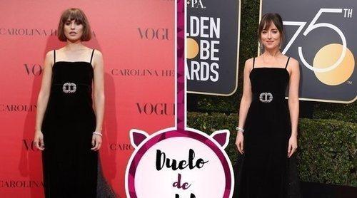 Veronica Echegui y Dakota Johnson apuestan por el mismo Gucci. ¿Quién lo ha lucido mejor?
