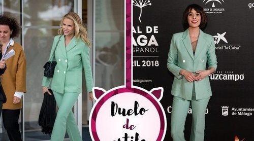 Judit Mascó y Belén Cuesta se decantan por el mismo traje de Sandro Paris. ¿Quién lo luce mejor?