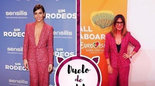 Cristina Pedroche y Noemí Galera apuestan por el mismo traje de chaqueta. ¿Quién lo ha lucido mejor?