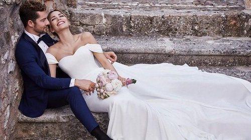 Así es el vestido de Pronovias con el que Rosanna Zanetti se ha casado con David Bisbal