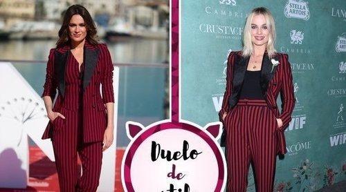 Mar Saura, Margot Robbie y el mismo traje de chaqueta de Dolce&Gabbana. ¿A quién le sienta mejor?