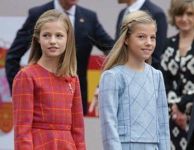 La Princesa Leonor y la Infanta Sofía se suman a la moda de los cuadros el Día de la Hispanidad 2018