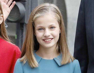 La Princesa Leonor confía en su color favorito para el look de su primera intervención pública
