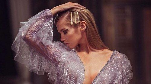 Vestidos de colores y lentejuelas en la colección primavera/verano 2019 Altelier Versace