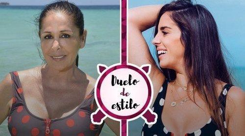 Isabel Pantoja apuesta por un bañador diseñado por su sobrina Anabel Pantoja para 'Supervivientes 2019'