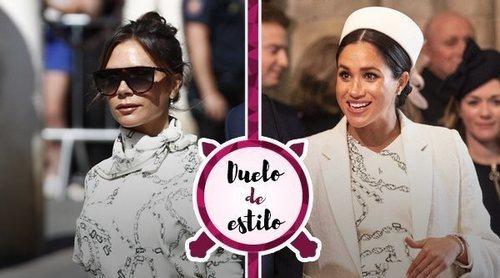 Pilar Rubio no fue la única: Victoria Beckham lució un vestido que ya había llevado Meghan Markle antes