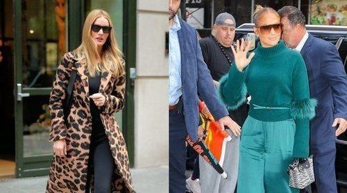 Rosie Huntington y Jennifer Lopez, entre las mejor vestidas de la semana