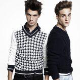 Jerseys en negro y estampado de piqué de Blanco, colección otoño 2011