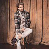 Abrigo de cuadros de la firma H.E. By Mango para el otoño/invierno 2011-2012