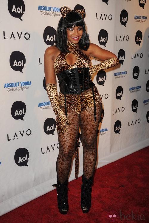 Disfraces sexys para Halloween: Ashanti de tigresa en 2010