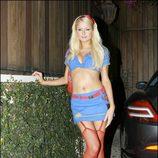 Disfraces sexys para Halloween: Paris Hilton de colegiala en 2006