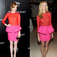 Emma Stone y Lauren Santo Domingo con el mismo look