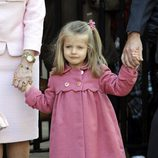 La Infanta Leonor con un abrigo rosa