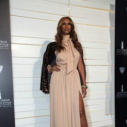 Iman en la fiesta de moda en su honor y Missoni