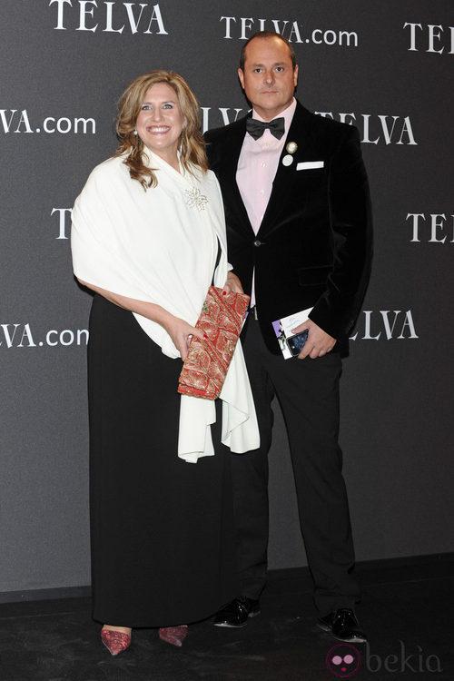 Look de Nacho Montes y Cristina López Schlichting en los Premios T de Moda de Telva 2011