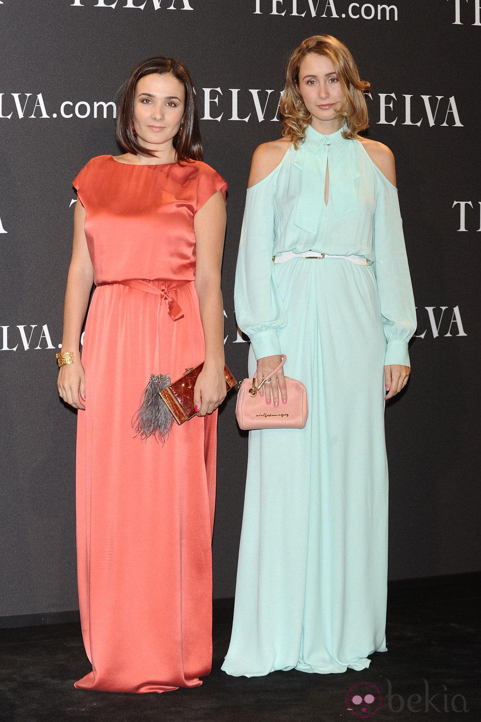 Look de Adriana y Tiziana Domínguez en los Premios T de Moda de Telva 2011