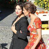 Monica Bellucci durante la grabación del spot Dolce&Gabbana junto a Bianca Balti