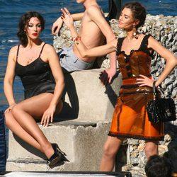 Monica Bellucci durante la grabación del spot Dolce&Gabbana