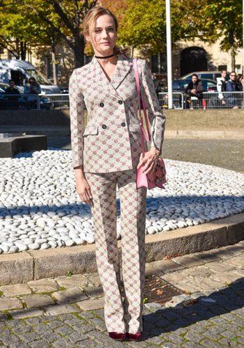 Diane Kruger en el desfile de Miu Miu en la París Fashion Week