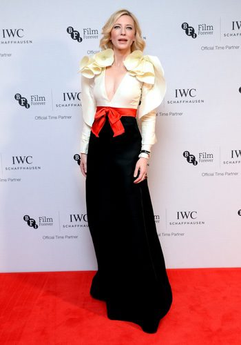 Cate Blanchett en la IWC gala homenaje al British Film Institute