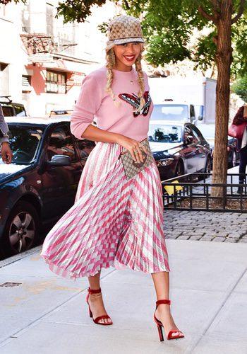 Beyoncé paseando por las calles de Nueva York