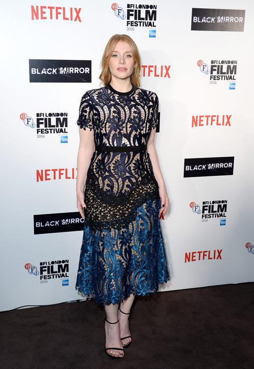 Bryce Dallas con un vestido de encaje en el Festival de Cine de Londres