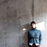 Jersey de cuello alto en color azul de Hoss Intropia otoño/invierno 2016/2017
