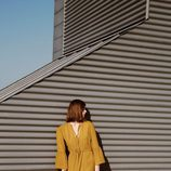 Vestido largo color mostaza de Hoss Intropia otoño/invierno 2016/2017