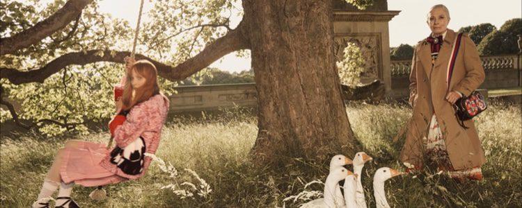 Vanessa Redgrave en la campaña de la colección 'Crucero 2017' de Gucci
