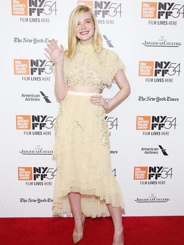 Elle Fanning con dos piezas de Rodarte en el Festival de Cine '20th Century Woman' en Nueva York